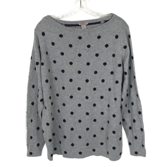 Hm Sweaters Hm Polka Dot Sweater Womens Gray Black Size Xl Poshmark